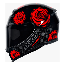 Capacete-Axxis-Eagle-Evo-Flowers-Gloss-Black-Red